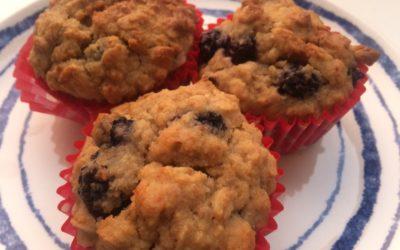 Haver-bosbessen ontbijtmuffins