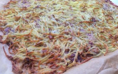 Aardappel-uien pizza